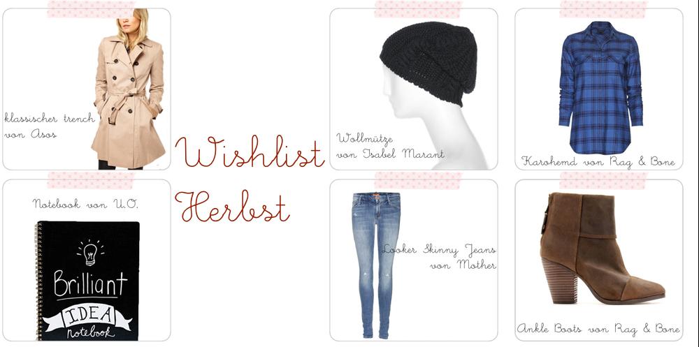 Wishlist: Keypieces für den Herbst 2013