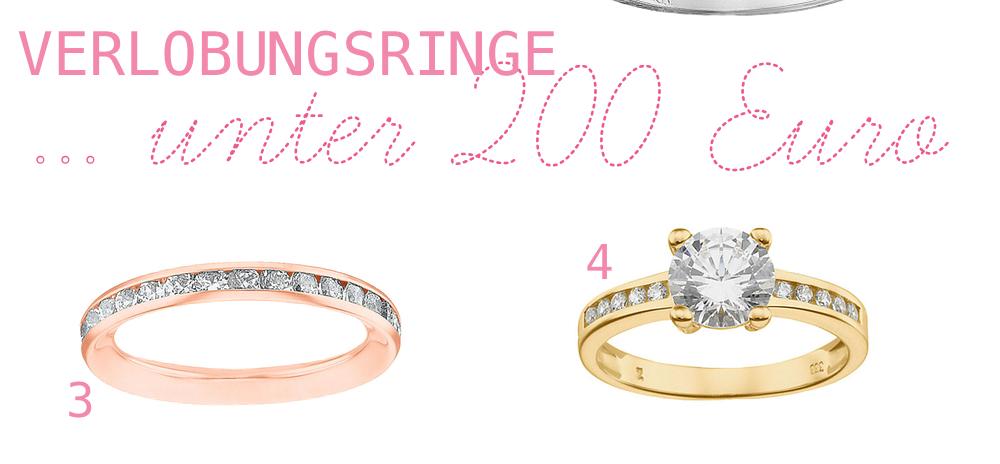 Der perfekte Verlobungsring … unter 200 Euro