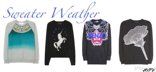 Sweater Weather via StyleHype.de