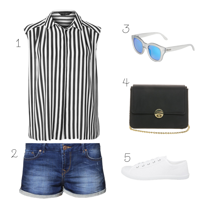 Jeans Shorts Outfit / STYLEHYPE.de