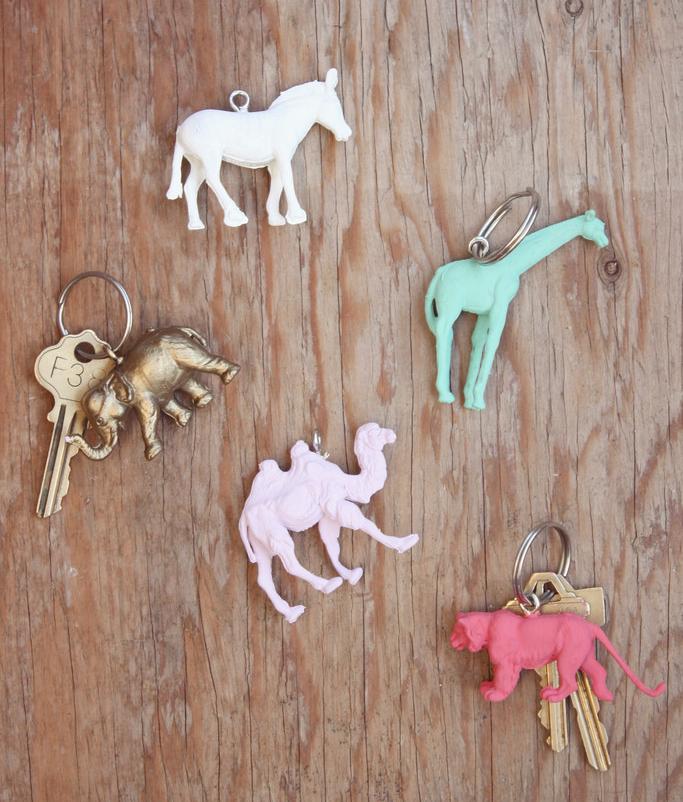 DIY Schlüsselanhänger mit Nagellack
