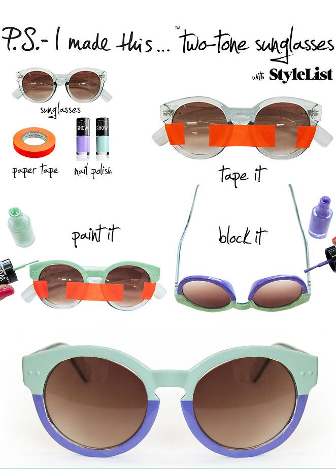 DIY Sonnenbrille mit Nagellack