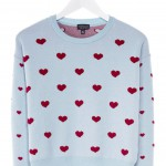 Topshop Hearts Strickpullover