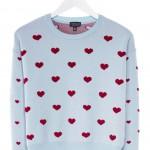 Topshop Hearts Strickpullover